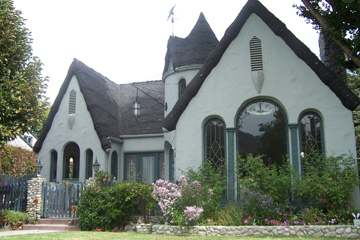 front view of house built in 1929 california storybook luxury los angeles house with rooftop decks modern house